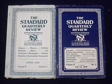 1929-1930 THE STANDARD QUARTERLY REVIEW LOT OF 4 ISSUES - NICE ARTICLES - O 2743