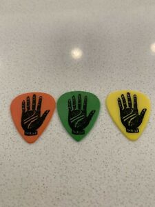 THRICE 2019 Tour Issue Palms Guitar Pick Lot Of 3 Plectrum BMTH Kensrue