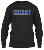 Sheriff Thin Blue Line - Gildan Long Sleeve Tee T-Shirt