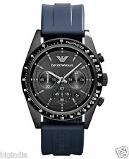 Emporio Armani AR6113 Blue Rubber Strap Men's Wrist watch