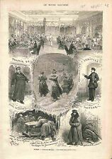 Winter Hiver Russia Traktir Hermitage Facteur Postman ANTIQUE PRINT GRAVURE 1875