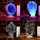 3D Illusion Bulbing LED Night Light USB & Batteries Table Desk Lamp Quality !