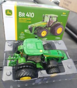 2021 FARM SHOW ERTL 1:32 John Deere 8R 410 Tractor with Duals *PRESTIGE* NIB!