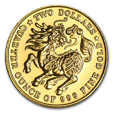 1983-1984 Singapore 1/4 oz Gold $2 Qilin BU (Random) - SKU #36103