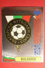 PANINI STICKERS USA 94 WORLD CUP N. 287 BADGE BULGARIA NEW BACK VERY GOOD!