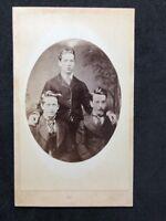 Victorian Carte De Visite CDV:  3 Unknown Men: Unusual Pose