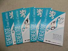 LOT Généalogie Franc-Comtoise 4 Bulletins Année 2011 Complète Franche-Comté