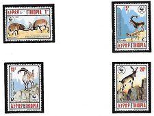 ETHIOPIA SC 1303-6 NH issue of 1990 - WWF - ANIMALS