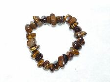 Tiger's Eye Stretchy Tumbled Gemstone Bracelet  05