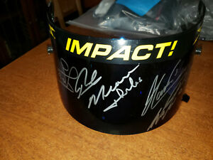 INNDYCAR  HELMET VISOR SIGNED BY 2018 PENSKE TEAM --RICK MEARS TOO
