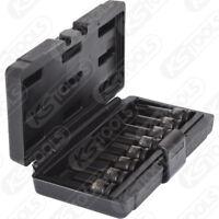 """KS Tools 1/2"""" Kraft-Bit-Stecknuss-Satz TX, 8-tlg. T30-T80  911.0901 Torx T30-T80"""