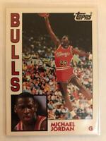 Michael Jordan 1992-93 Topps Archives #52 Chicago Bulls small white showing back
