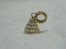 Clogau Sterling Silver & Yellow Welsh Gold Wedding Cake Bead Charm