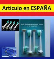 4x recambios par cepillo de dientes electrico Philips Sonicare R710 R732 RS910