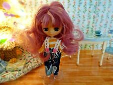Mini Blythe Doll Customized with Cute Outfit