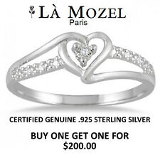 Sterling Silver CZ Accent Heart Ring