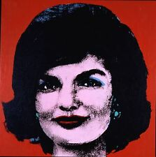 By ANDY WARHOL jackie  pop art  print large 50cm X 50cm CANVAS