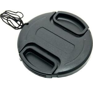 JJC 37mm Snap in Lens Cap with Keeper Leash - Black