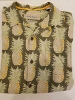 Tommy Bahama Original Fit Men's 100% Silk Shirt Size Medium Light Olive Green wi