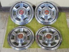 "1969 Pontiac HUB CAPS 14"" Set of 4 Wheel Covers 69 Hubcaps"