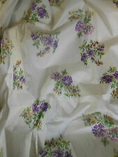 Antique Vintage Watered Roses Floral Fine Cotton Fabric ~ Lavender Purple Yellow