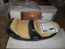 Westerner Endura Black Leather & Wool Seat Kawasaki Z1 KZ650 KZ900 1000 29-1965