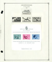 Liechtenstein Mostly Mint 1950s to 1990s Potent Stamp Collection