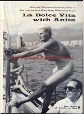 ANITA EKBERG -Multi-page Photo Feature in USA MAN Magazine, Sept 1963. Free Post