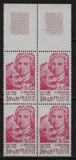 U57* Timbres France Neuf**MNH TBE Bloc de 4 + Marge (1978 n°1990)