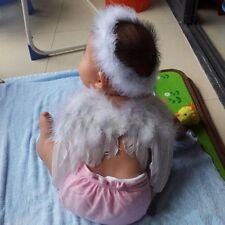 Photo Prop Angel Fairy Wing With Feather Halo For Baby Infant Fancy Dress Up FW