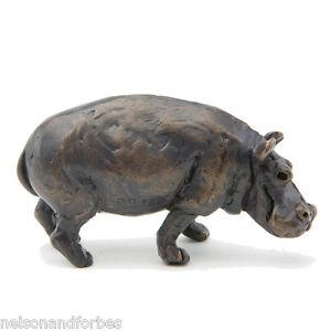 Solid Bronze Hippo Sculpture Hippopotamus Maquette by Jonathan Sanders