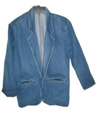 Denim Jean Jacket Blazer Medium Hunt Club Made In Usa