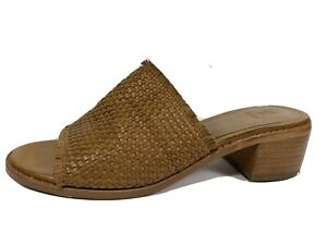 Frye Tan Brown Leather Slide Sandals Womens 7 M
