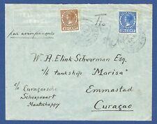 NEDERLAND 1938. LUCHTPOST COVER VAN 'S GRAVENHAGE NAAR CURACAO. TANKSCHIP MARISA