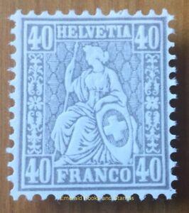EBS Switzerland 1881 - Sitting Helvetia - 40 centimes - Michel 41 MNH**