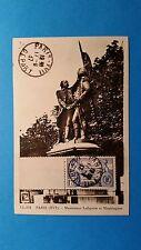 FRANCE CARTE MAXIMUM YVERT 357 CONSTITUTION ETATS UNIS 1F75 PARIS 1937 L 151