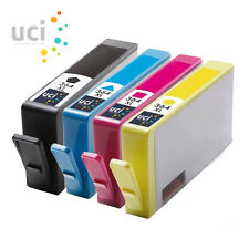 4 HP364 XL CHIPPED UCI Ink Cartridge fits for Photosmart 5510 5520 3520 6510