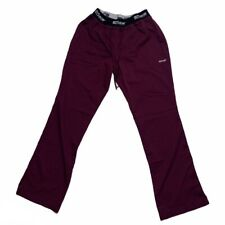 Grey's Anatomy Straight LegScrub Pants Size Small Womens Maroon Burgundy Bottoms