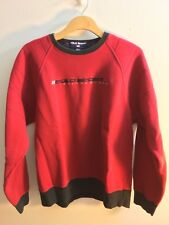 VTG Ralph Lauren Polo Sport Spell Out Flag L 90s Red Pullover Sweater