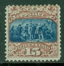 US #119 15¢ brown & blue, type II, fresh og, hinged, rare stamp PSE Certificate