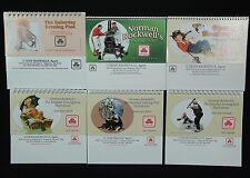Norman Rockwell Mixed Lot Calendars - 6 Mini Desktop Calendars