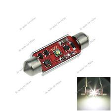 1X White 41MM 1 Cree Canbus Error Free Festoon Dome LED Light Roof Bulb I321