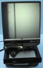 Micro Fiche Reader Micron 770 Dual Magnification