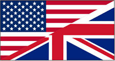 USA / UK FLAG STICKER Car Bumper Vinyl Top Quality Sticker - 10 cm x 5 cm