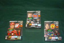 Lot of 3 NEW Jakks Pacific Nascar Driver & Car Packs  Earnhardt Jr Kahne Gordon