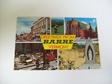 GREETINGS FROM BARRE VERMONT multiview postcard