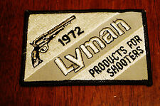 1972 Lyman Products For Shooters Patch Nos
