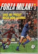 FORZA MILAN!=N°1 1983 ANNO XV=NUCIARI=DAMIANI=ARDILES=SERIE B