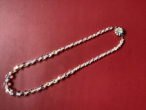 Vintage Crystal Glass Graduated Bead Necklace (50cm)