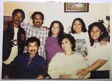 Vintage 90s PHOTO Asian Family Posed Together One Woman Has Ninja Turtle T Shirt